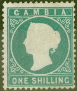 Gambia 1880 1s Dp Green SG20B V.F & Fresh Unused