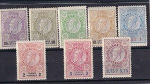 Belgium: 1892 Telephone Tax Stamp, #9-16, MNH (42238)
