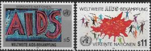 United Nations 1990 Vienna SIDA - Stylized Figures SC# 99-100 MNH