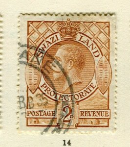 SWAZILAND; 1933 early GV issue fine used 2d. value