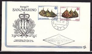 San Marino, Scott cat. 906-907. Europa issue. First day cover. ^