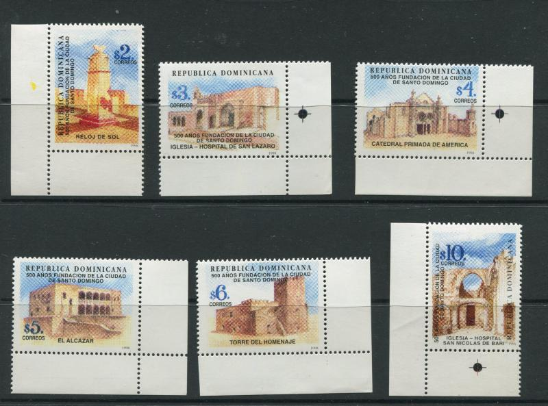 Dominican Rep - Scott 1277- 1282-Santo Domingo Issue -1998 -MNH -Set of 6 Stamps