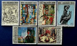 1100th Anniversary of Settlement of Iceland Scott # 462, 464-6, 469 & 471 (I712)