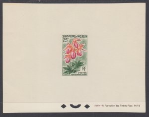 St Pierre and Miquelon 360 Flower Proof NH VF