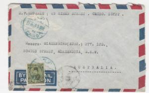 EGYPT, 1948 Airmail Censored cover, Cairo to Australia, 17m.
