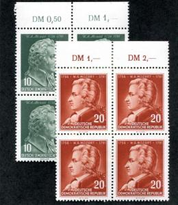 Germany: East (DDR) 278-279 MNH Block 4, numbers