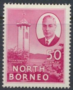 North Borneo  SG 366a SC# 259 MH Jesselton  redrawn spelling  see scans