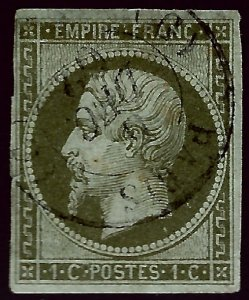 France Sc #12 Used F-VF SCV$80...French Stamps are Iconic!