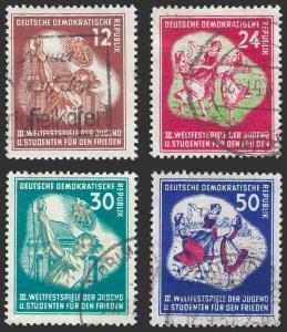 Germany DDR 1951 Sc 85-88 UVF 2010 SCV is $33.00