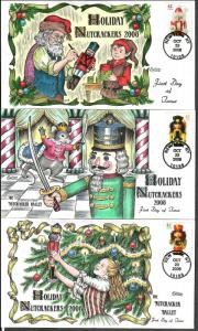 US Collins FDC SC#4360-4363 Holiday Nutcrackers 2008