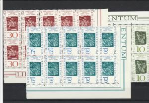 1965 Mint Never Hinged Liechtenstein Stamp Set Blocks Ref 28594