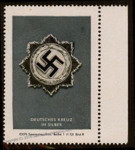 3rd Reich Germany IDEPE Deutsches Kreuz Orders and Medals Series Stamp 77275
