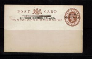 Bechuanaland - 1p Postal Card Overprinted w/ Period (Rare?) - 091917