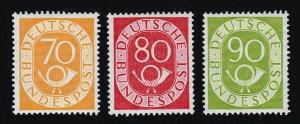 GERMANY 1951-1952 POSTHORN SCOTT #683, #684, #685 VF UNUSED MNH-OG CV $670+
