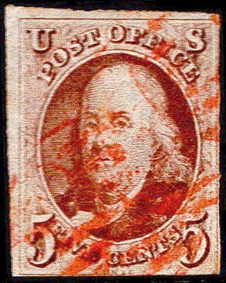 U.S. #1 Used Red Cancel