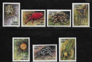 Tanzania MNH 1235-41 Spiders 1994