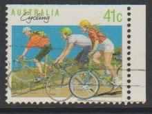 Australia SG 1180a  FU - from booklet top right  imperf -...