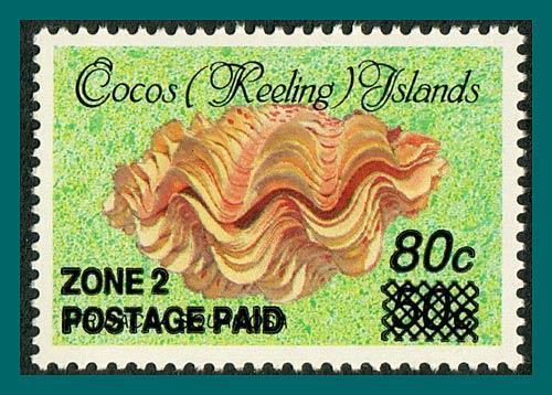 Cocos 1991 Surcharge 80c, MNH 232,SG238