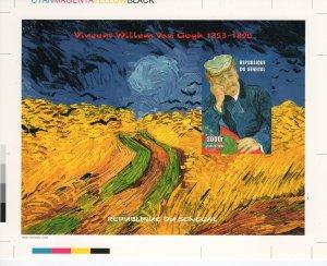 Senegal 1999 Mi#Bl.106 Vincent van Gogh Ptgs.FINAL CHROMALIN COLOR PROOF UNIQUE!