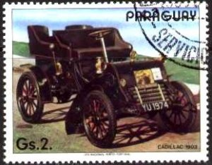 Automobile, Cent., Cadillac, 1903, Paraguay stamp SC#2068d used