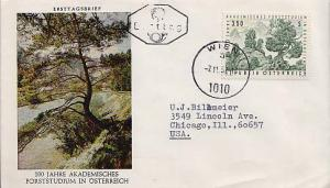 Austria, First Day Cover, Plants