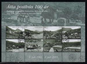 Faroe Islands Sc 435 2003 Old Post Offices stamp sheet used
