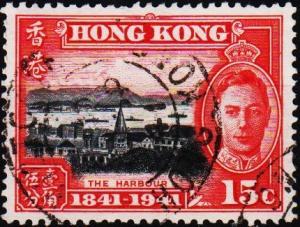 Hong Kong. 1941 15c S.G.166 Fine Used