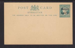 Great Britain Morocco H&G 7 unused 1898 5c Postal Card