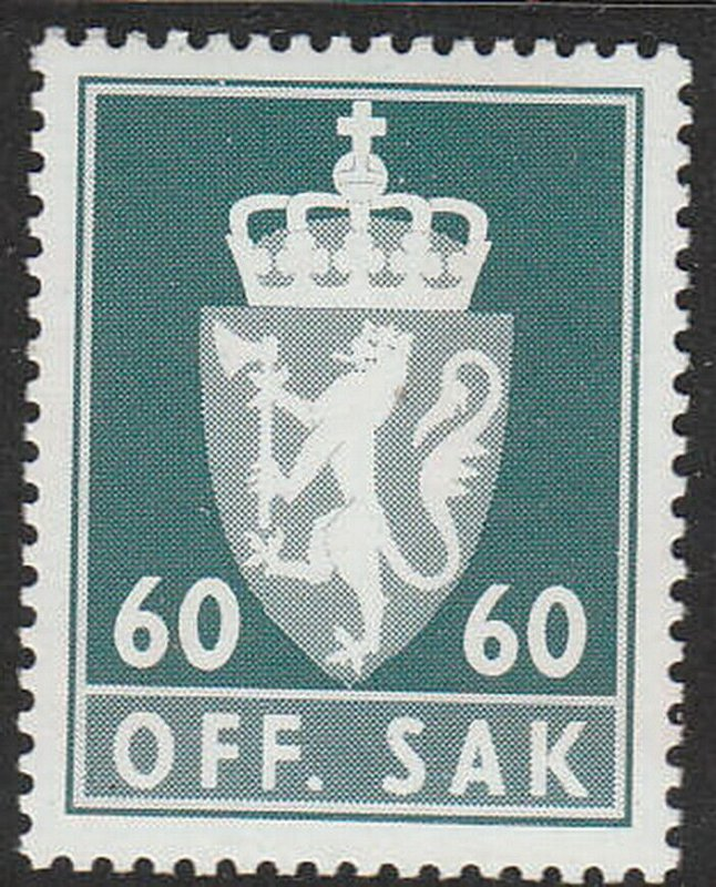 Stamp Norway Official Sc O101 1975 Coat of Arms Dotted Emblem Dienst MNH