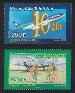 Fr. Polynesia Air Tahiti 2v SG#1104-1105 MI#1056-1057 CV£20+