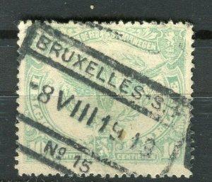 BELGIUM; 1915 early Railway Parcel Stamp fine used 10c. value