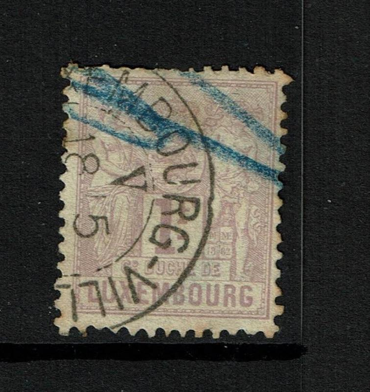 Luxembourg SC# 58, Used, pen cancel, very small pinhole - S795
