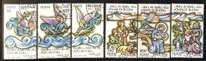 Vatican #819-824 U CV$3 Christmas/Angels/Shepherds [166838]