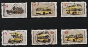 Germany (Berlin) 1973 Public Transportation (6/6) USED