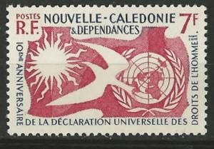 New Caledonia # 306  Human Rights common issue  (1) Mint NH