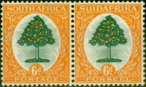 South Africa 1926 6d Green & Orange SG32 Fine Lightly Mtd Mint Stamp