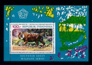 [39297] Indonesia 1977 Wild Animals Mammals Tiger Perforated MNH Sheet
