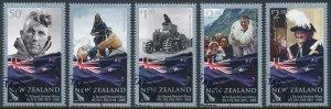 New Zealand 2008 Sir Edmund Hillary Set of 5 SG3101-3105 CTO Full Gum