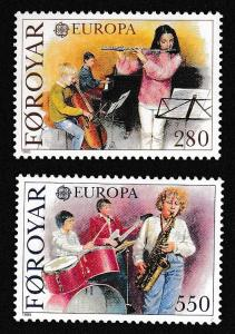 Faroe Is. Music Europa CEPT issue 1985 2v SG#113-114 SC#125-126