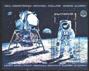 Bulgaria. 1990. bl213. Space. MNH.