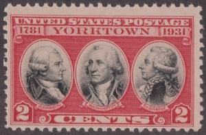 703 Yorktown F-VF MNH Single