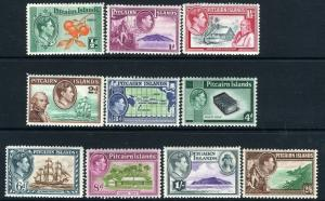 PITCAIRN ISLANDS-1940-51 Set to 2/6 Sg 1-8  MOUNTED MINT V13552