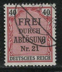 Germany Reich Scott # OL7, used