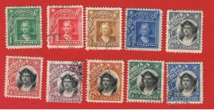 Chile #68-77  VF used  Columbus  Free S/H