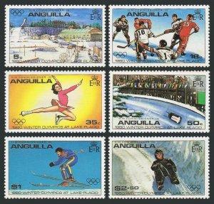 Anguilla 375-380,380a,MNH.Michel 373-378,Bl.30. Olympics Lake Placid-1980.Hockey