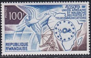 Rwanda # 540, African Telecommunications Union, NH, 1/3 Cat