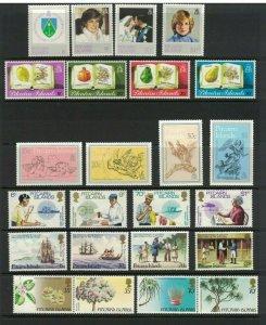 MPN4) Pitcairn Islands 1982 - 1983 Sets MUH