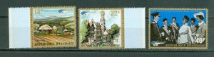RWANDA 1972 #467-69...SET MNH...$2.50