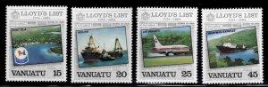 VANUATU Scott 368-371 MNH** Lloyd's List set