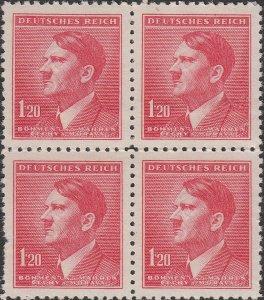 Stamp Germany Bohemia B&M Mi 096 Sc 69 Block 1942 WWII Fascism Hitler MH